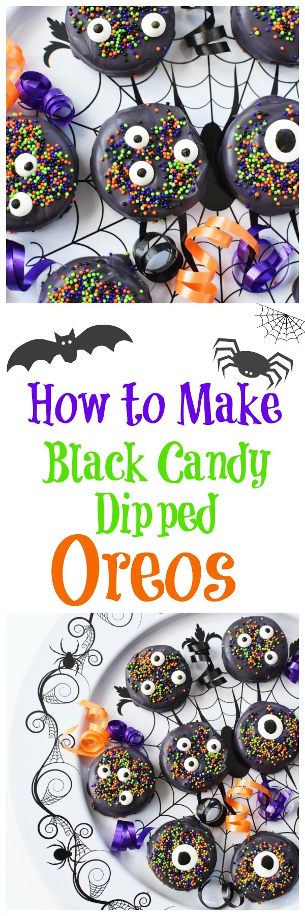 How to Make Black Candy Dipped Oreos