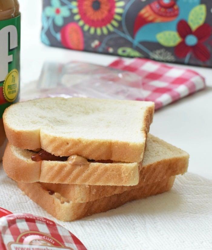 Peanut Butter and Jam sandwich 1