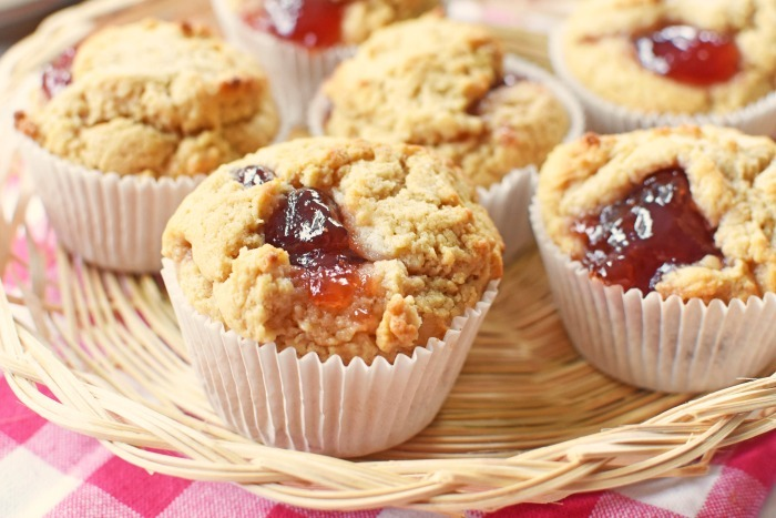 Peanut butter and Jam Muffins 1