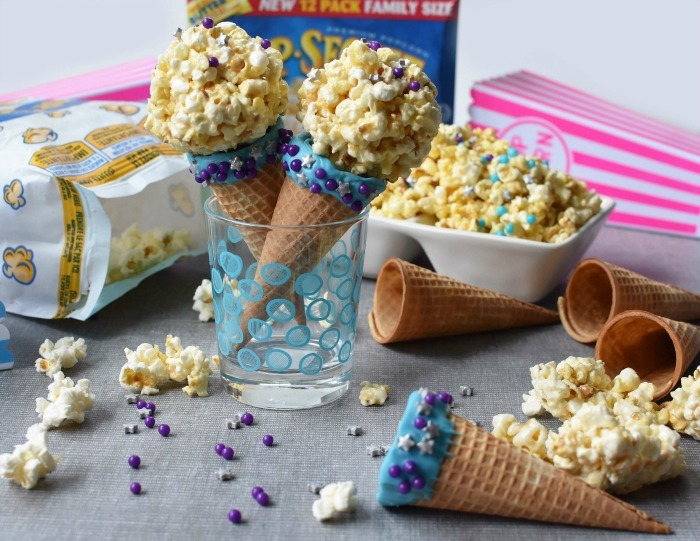 Popcorn Ball Ice Cream Cones 1