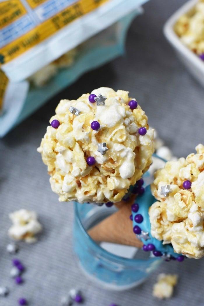 Popcorn balls with marshmallow 1