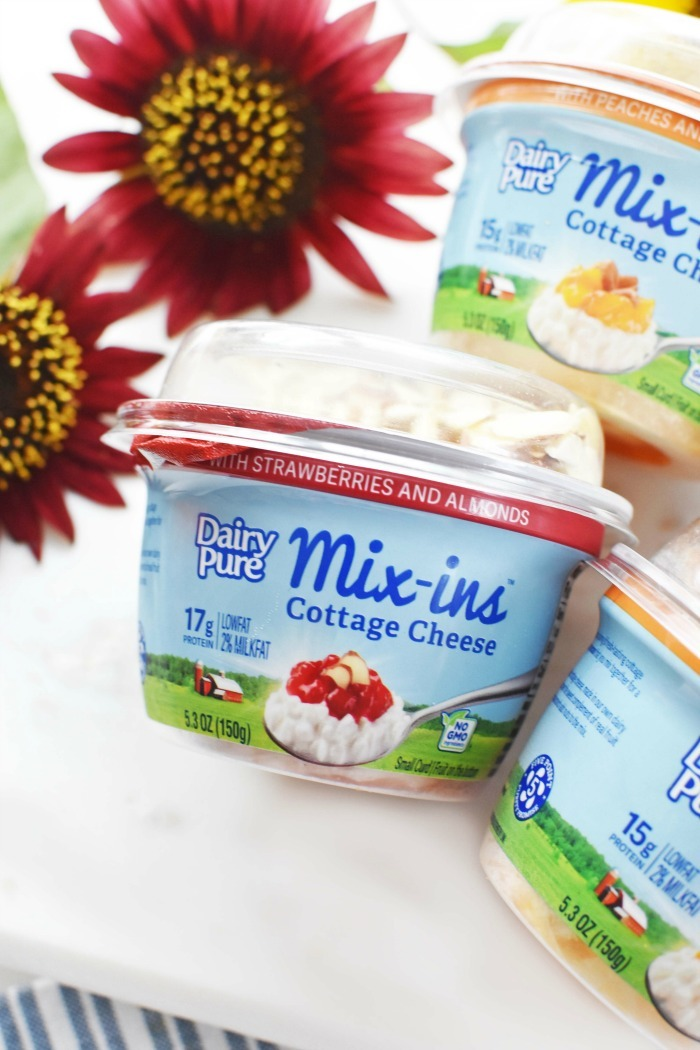 Dairy Pure Cottage Cheese Mix ins Strawberry 1
