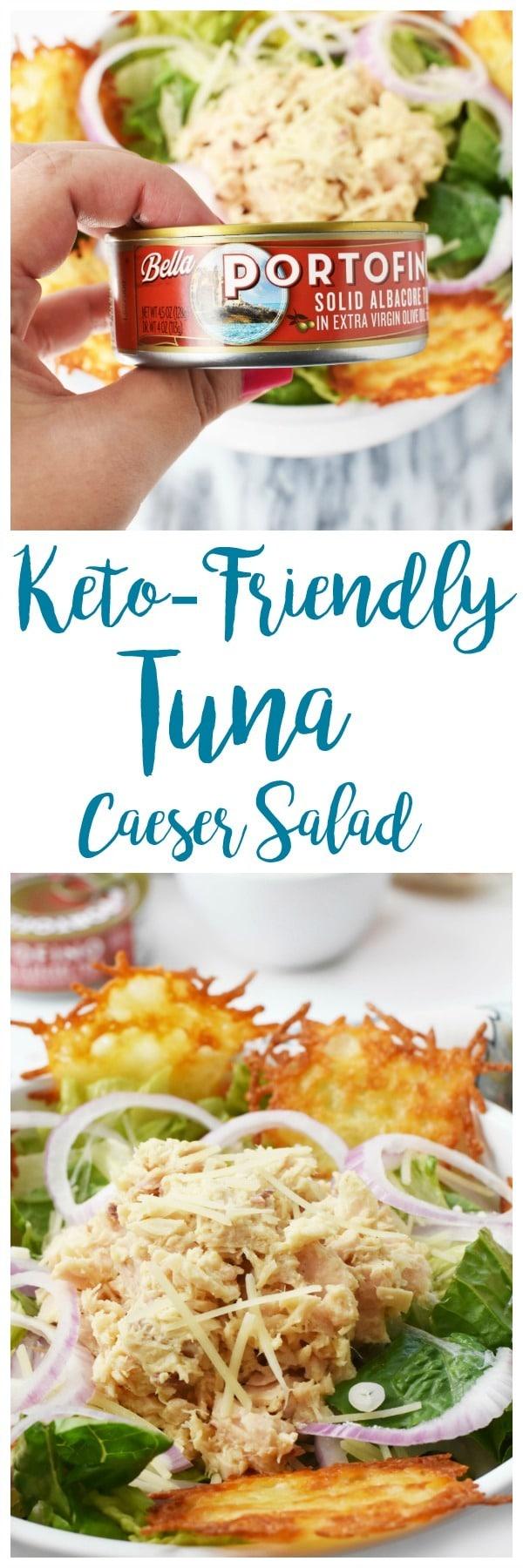 Keto-Friendly Tuna Caesar Salad