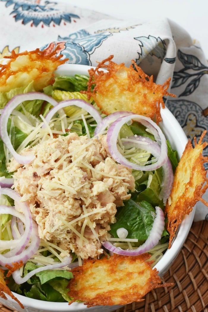 Tuna Cesar Salad with Parmesan Crisps 1