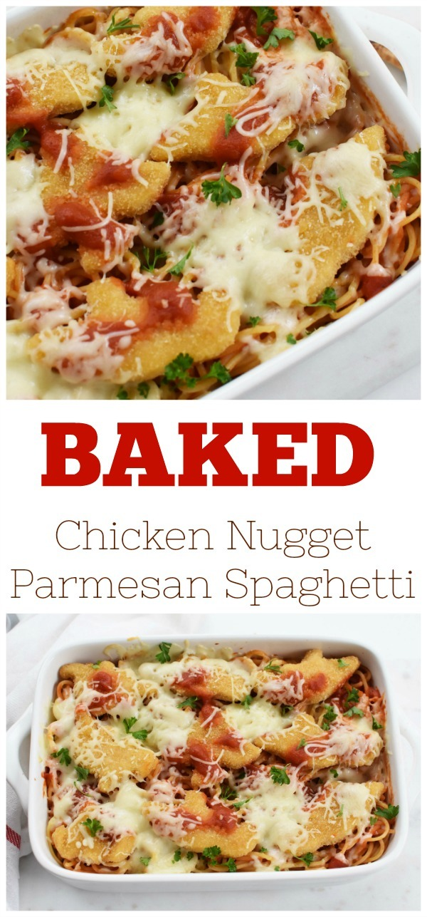 Baked Chicken Nugget Parmesan Pasta Recipe