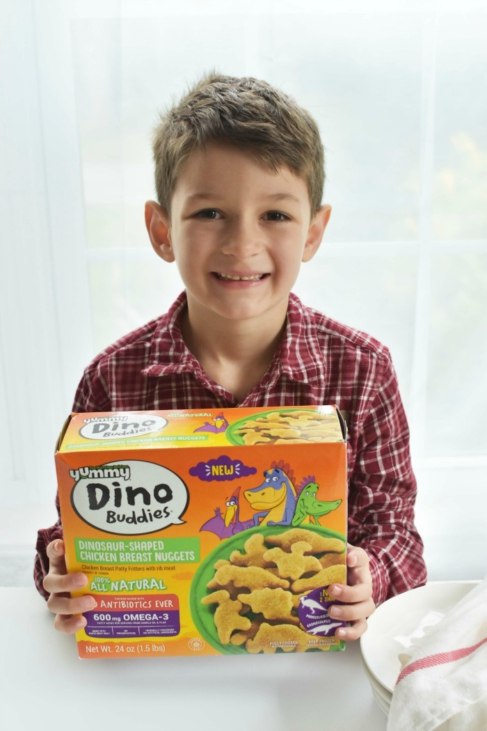 Boy with Dino Buddies nuggets 1