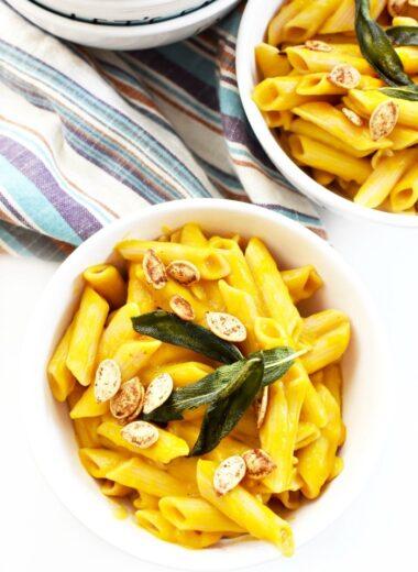 Butternut Squash vegan creamy pasta 1