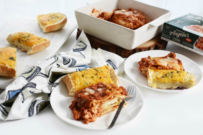 Family Size Lasagna Meal with Garlic Bread 1