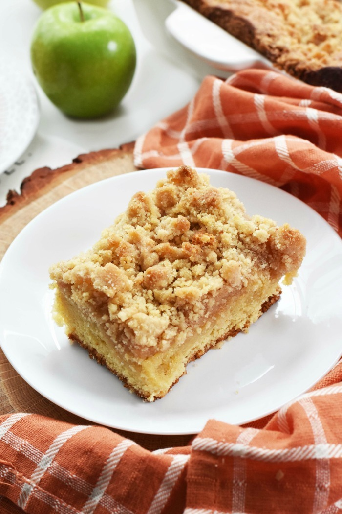 Slice of Apple Crumb Cake 1