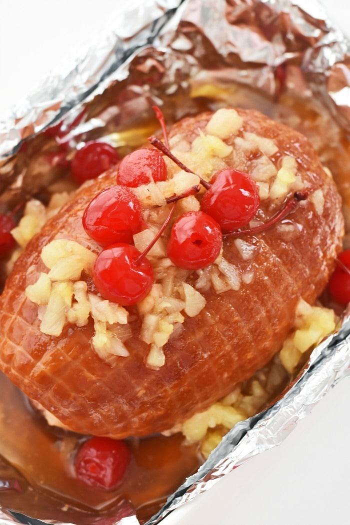 Cherry glazed ham 1