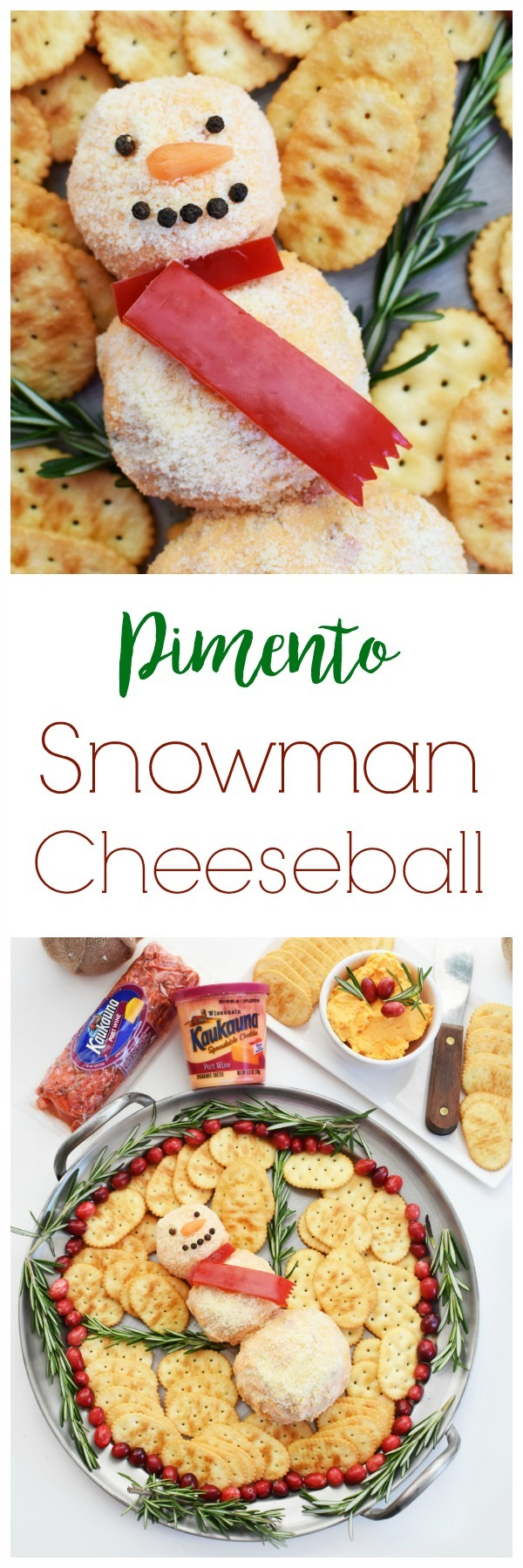 Pimento Snowman Cheese Ball Recipe
