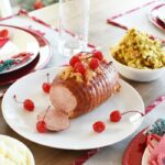 Pineapple and Cherry baked ham