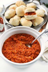 Portuguese Chourico with tomato paste 1