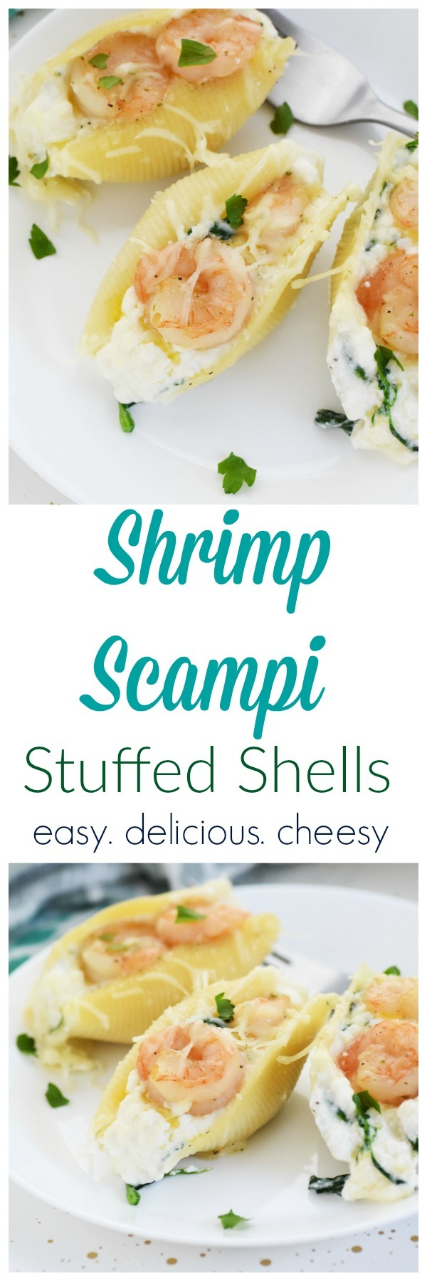 Shrimp Scampi Stuffed Shells Dinner Recipe