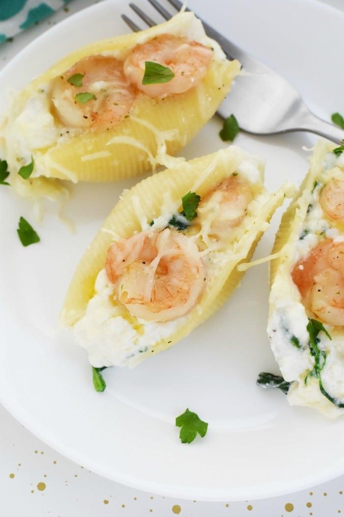 Shrimp Scampi Stuffed Shells Meal 1