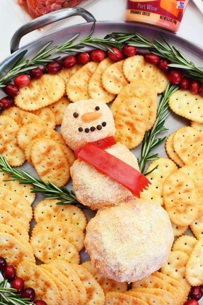 Snowman appetizer 1