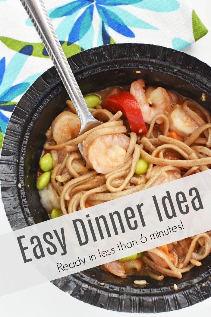 Easy Seafood Dinner Idea that is ready in less than 6 minutes!!