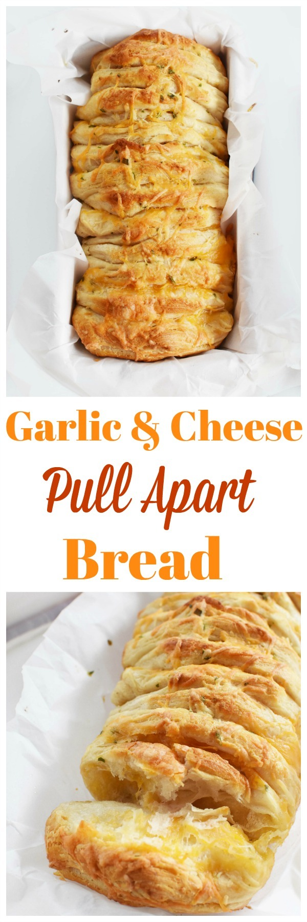 Easy Cheese Pull-Apart Garlic Bread (with Biscuit Dough)