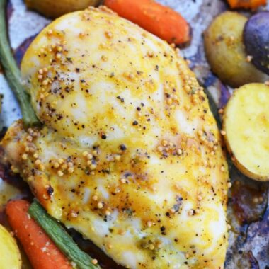 Juicy Honey mustard chicken breast 1