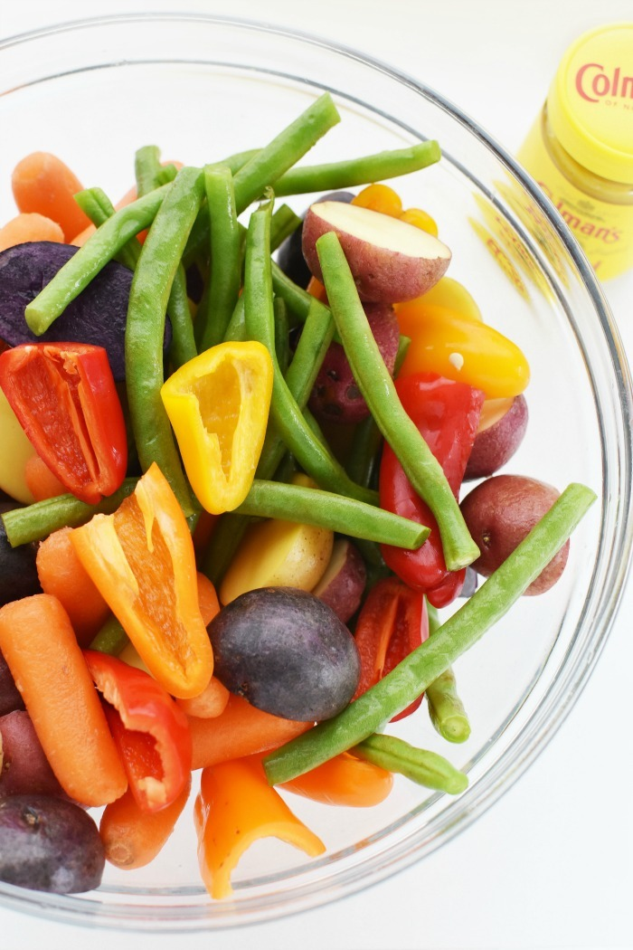 Rainbow Sheet pan veggies 1