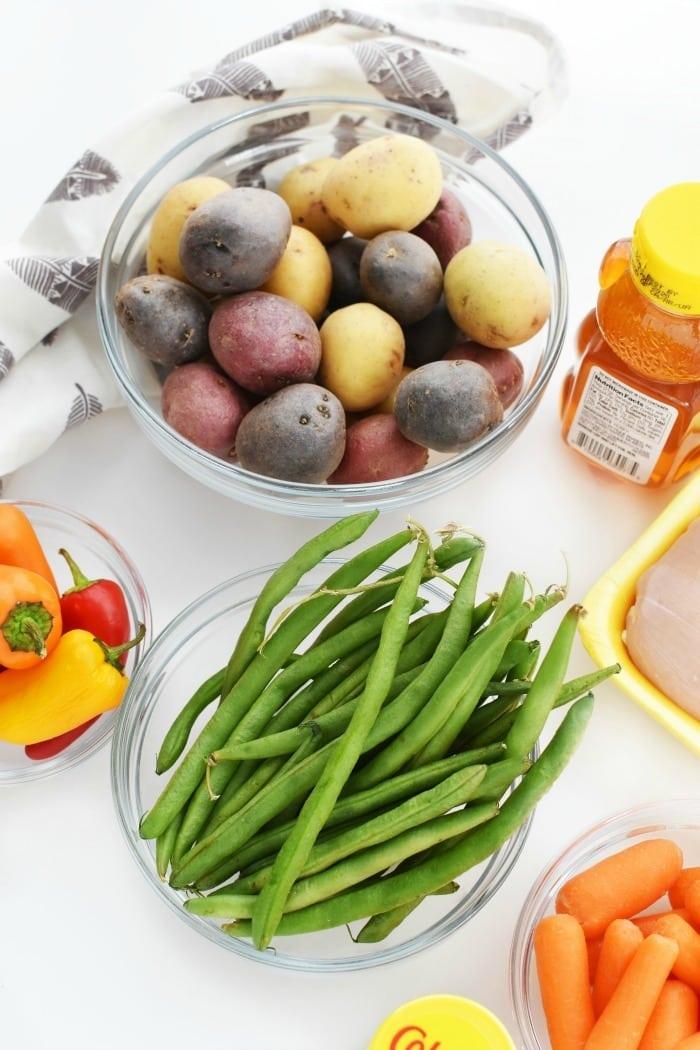 Root Veggies and Green Bean Sheet Pan 1