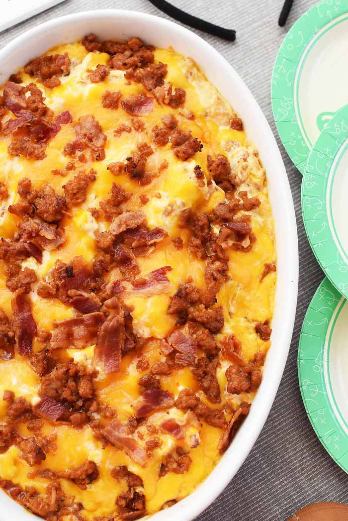Bacon and Sausage cheese dip 1