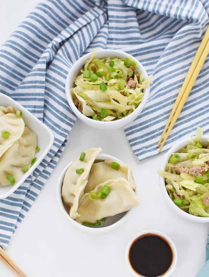 Ling Ling Potstickers Served with Eggroll in a Bowl Recipe