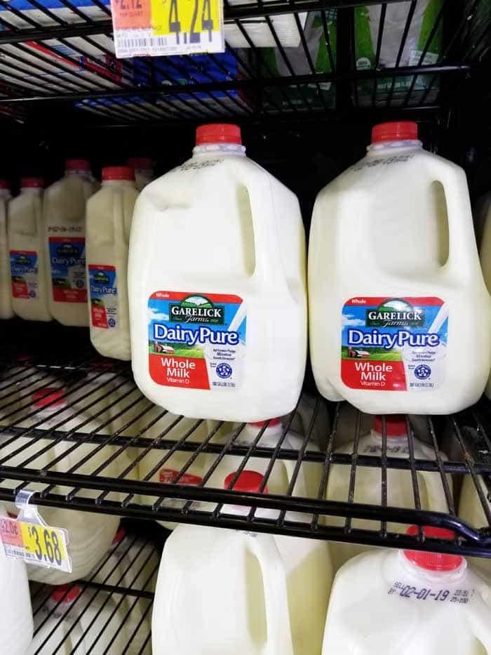 Milk at Walmart