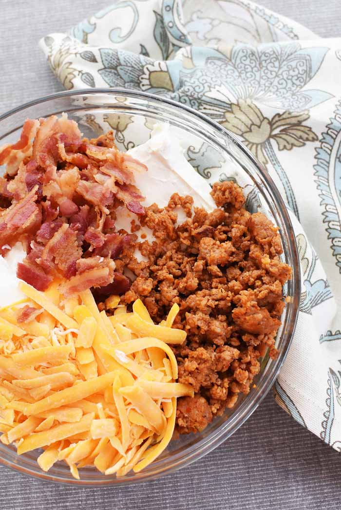 Spicy Sausage and Bacon Dip 1