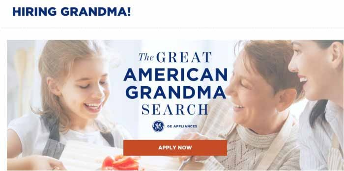 The Great American Grandma Search GE
