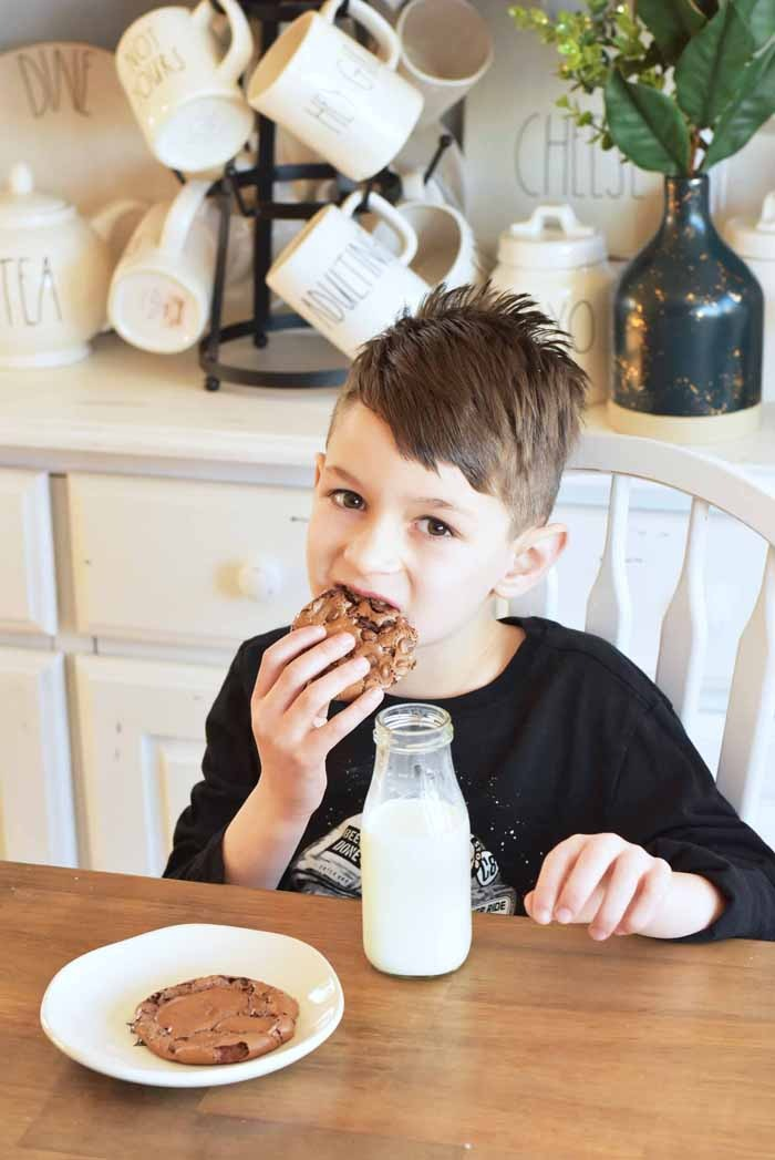 boy eating a cookie 1