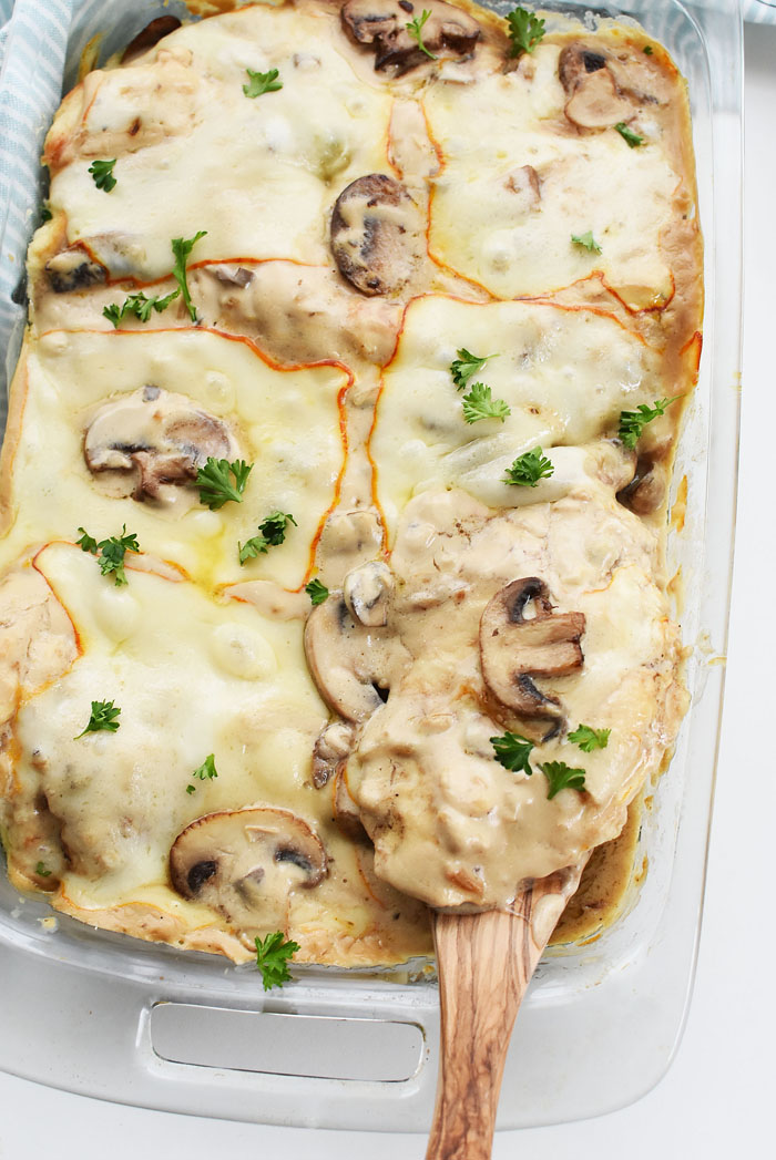 Cream Of Mushroom Chicken Bake With Cheese Sizzling Eats
