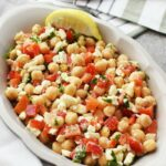 Chickpea Salad with Red Pepper and Feta