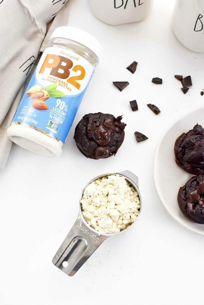 PB2 Almond muffins 1