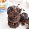 chocolate flourless muffins 1