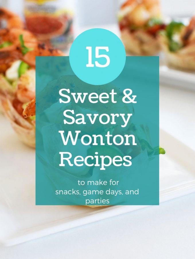 15 Sweet and Savory Wonton Recipes