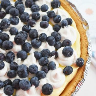 Blueberry Buttermilk Pudding pie recipe 1