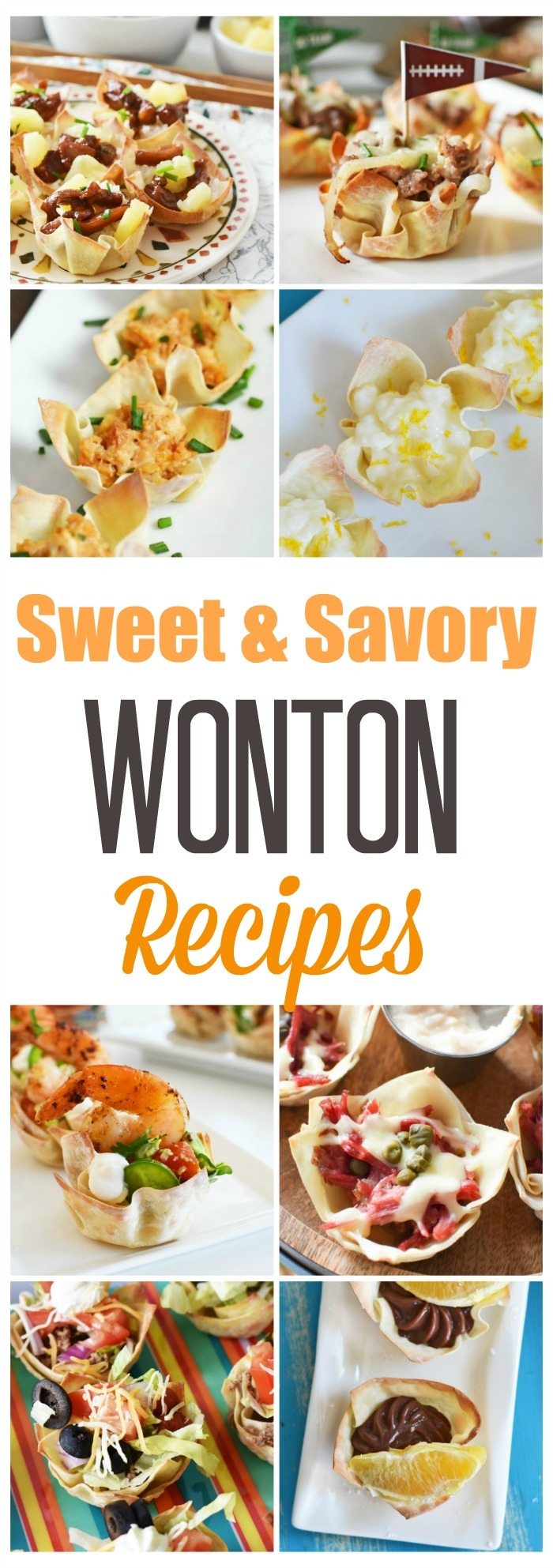 Sweet and Savory Wonton Cup Recipes
