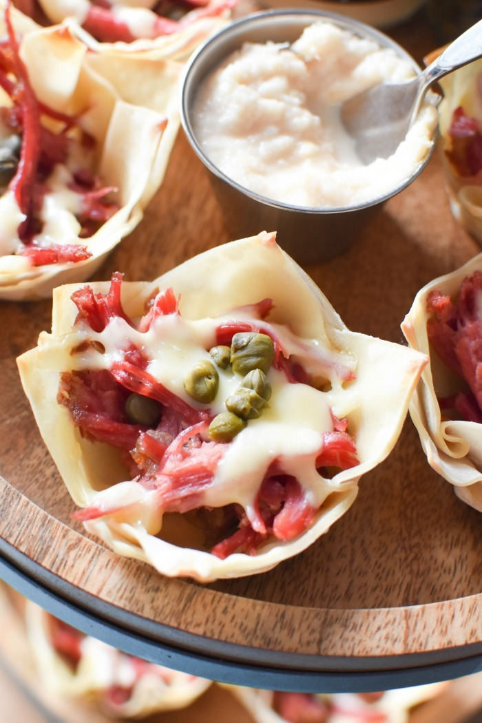 Swiss and Corned Beef Wontons