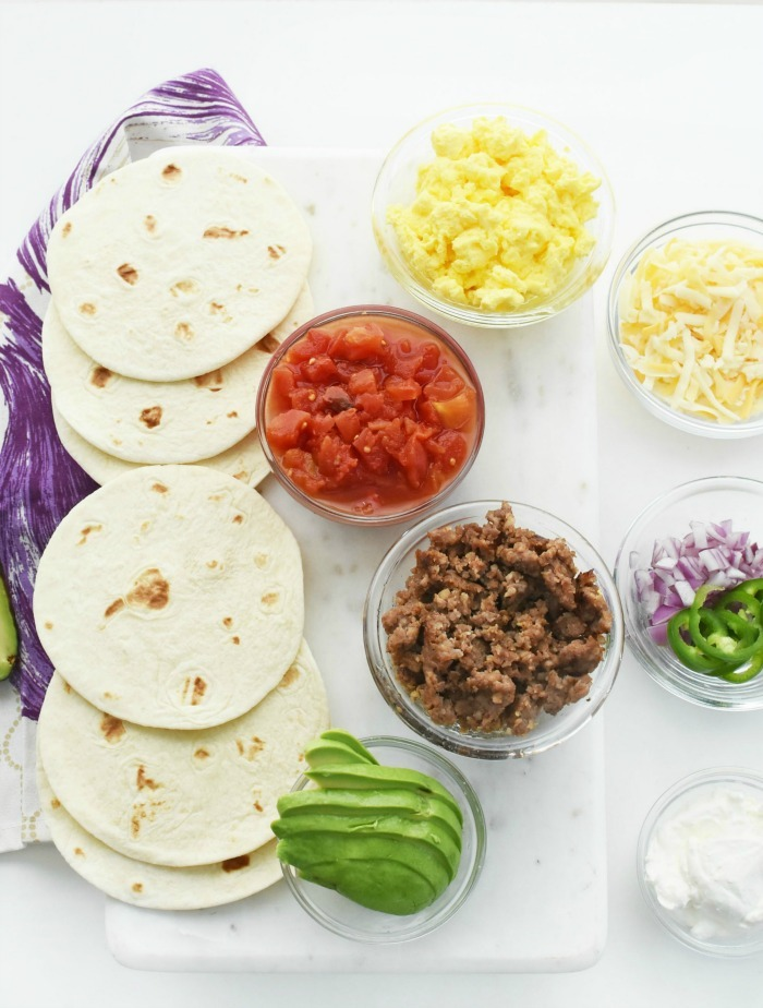 Breakfast Taco topping bar