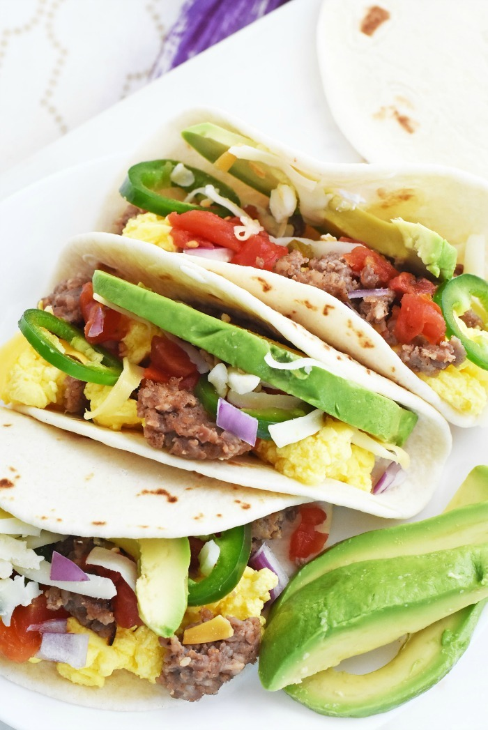 Breakfast Tacos with avocado 1