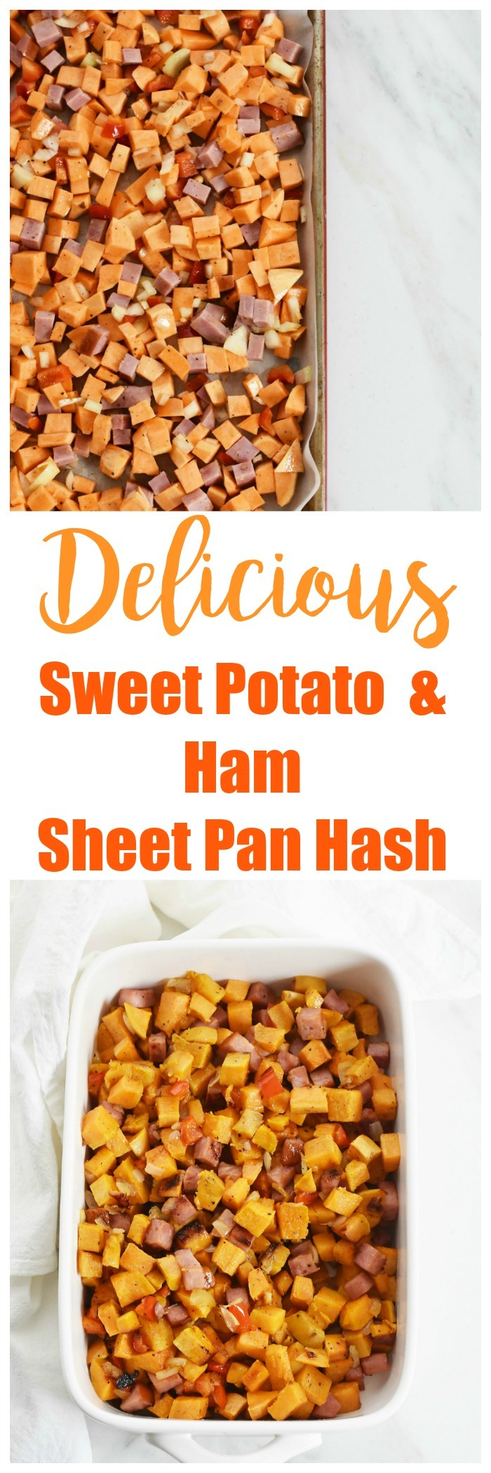 Delicious Sweet Potato & Ham Sheet Pan Hash