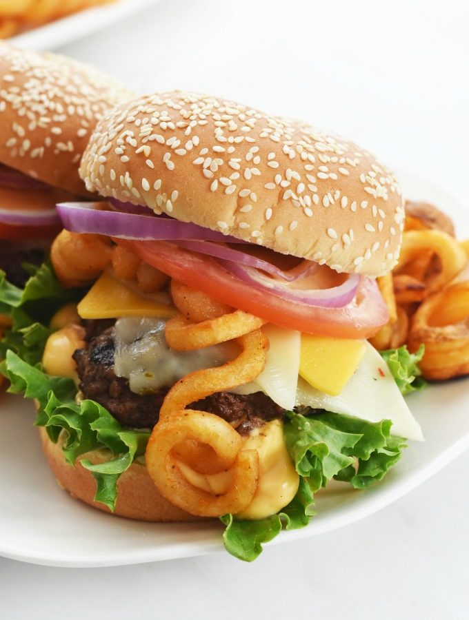 French Fry Ultimate Cheeseburger