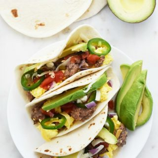 Make your own breakfast tacos