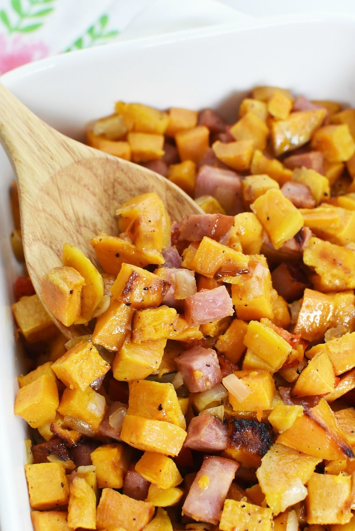 Sweet Potato and Ham Hash 1