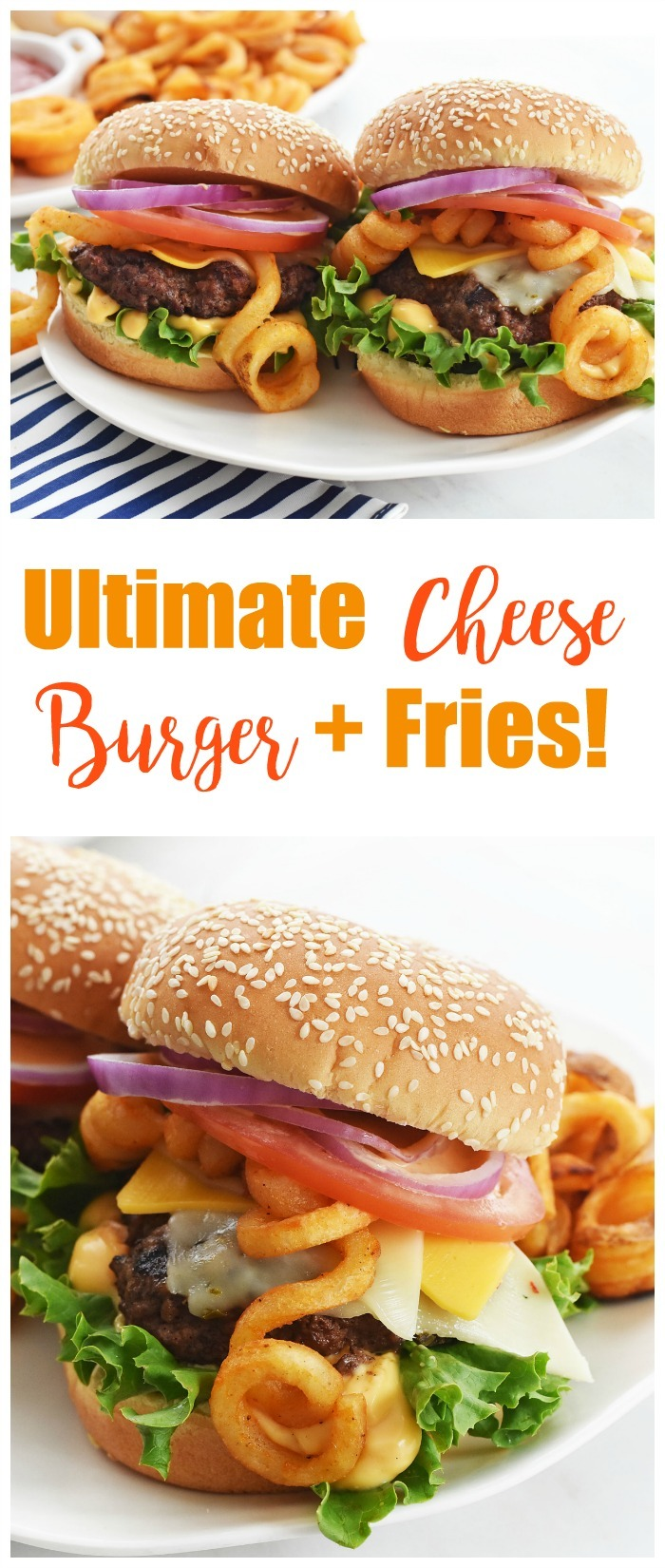 Ultimate Cheese Burger and Fries