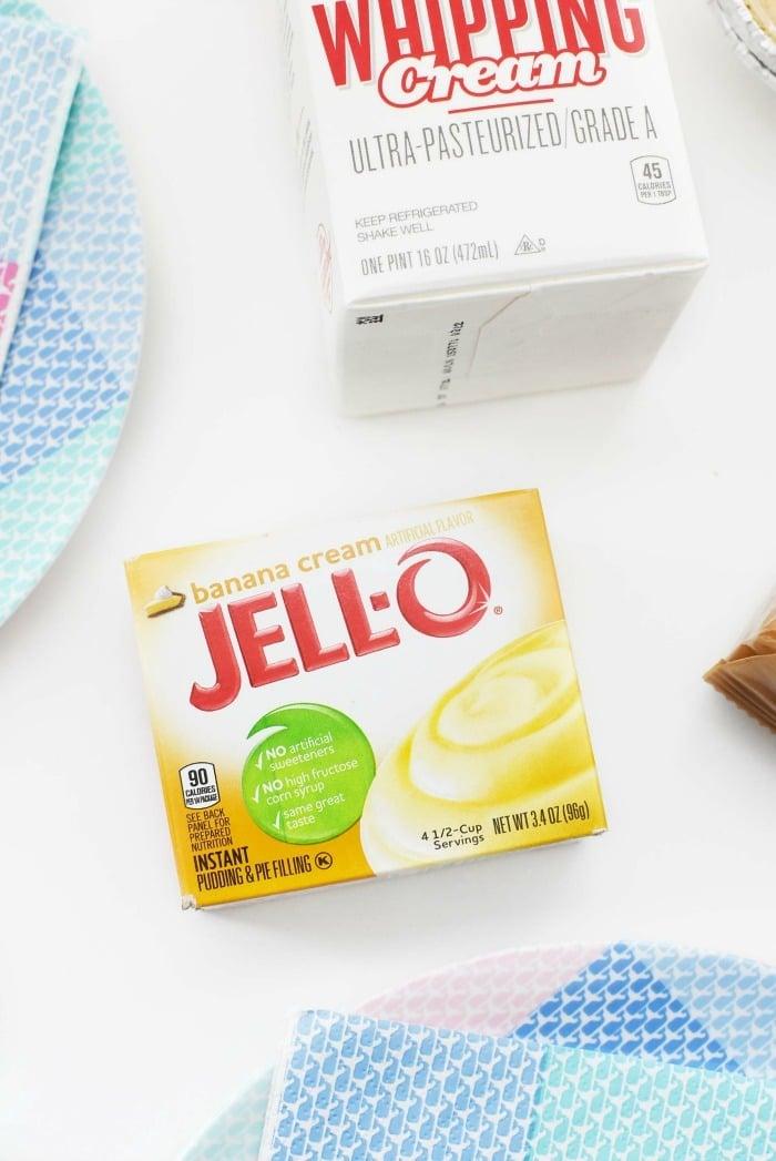 Banana Jell-o pudding