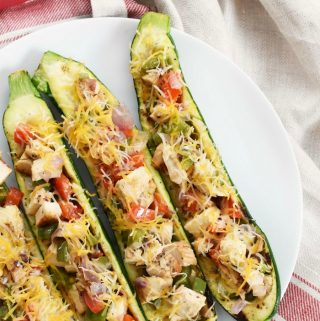 Low Fat Zucchini Boats
