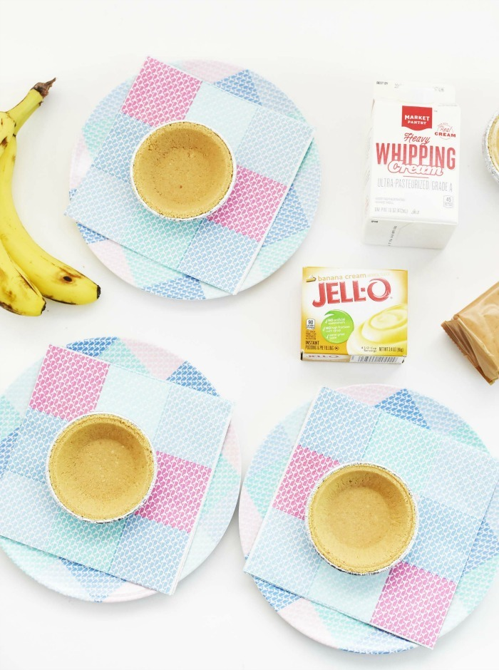 Mini Banana Cream Pies Ingredients