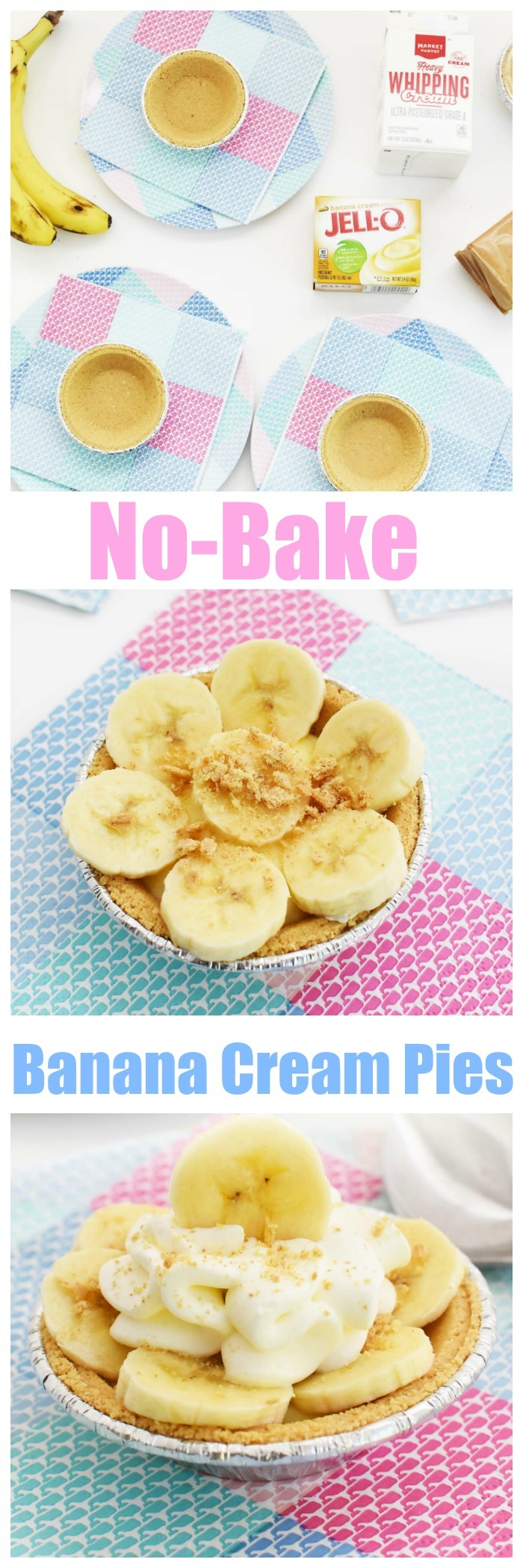 Mini Banana Cream Pies Recipe (No-Bake and Easy)